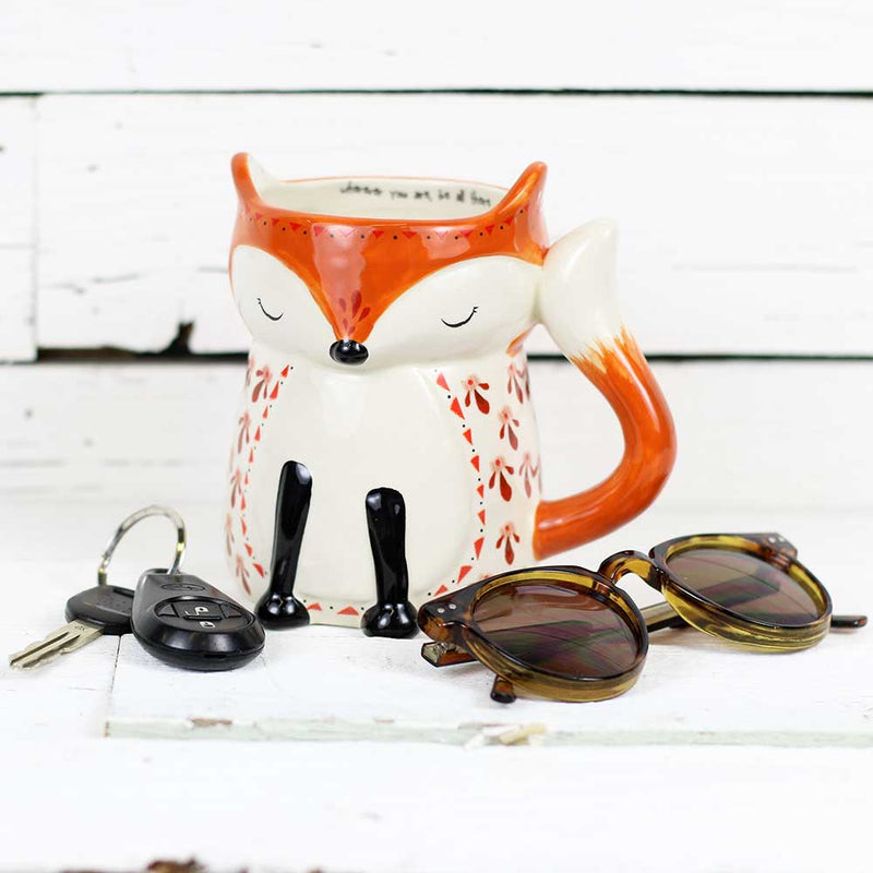 "Natural Life Folk Critter Mug ""Fox"""