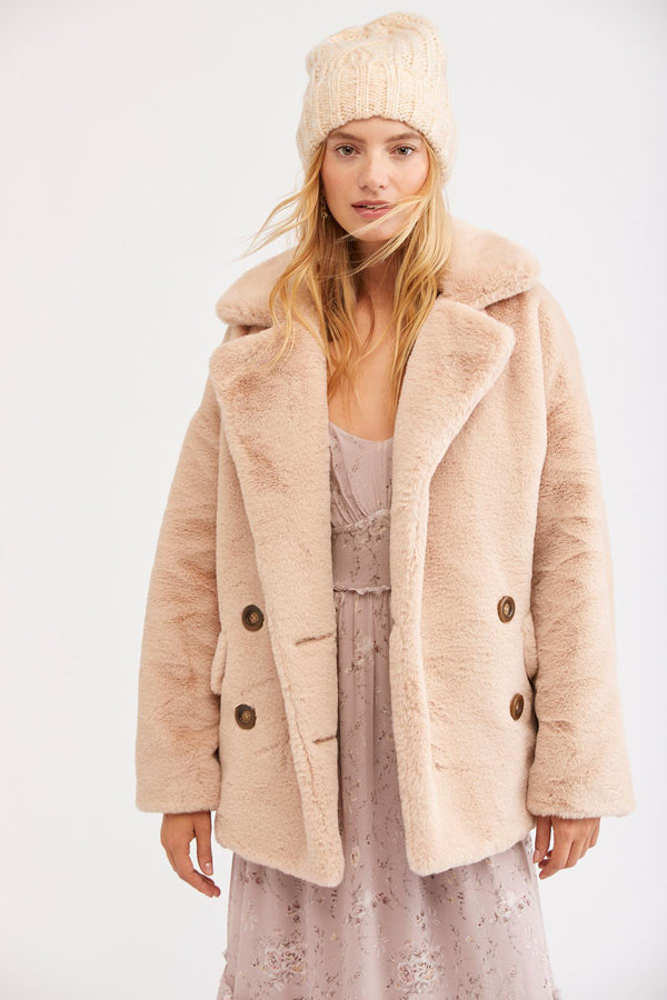 FINAL SALE-Solid Kate Faux Fur Coat
