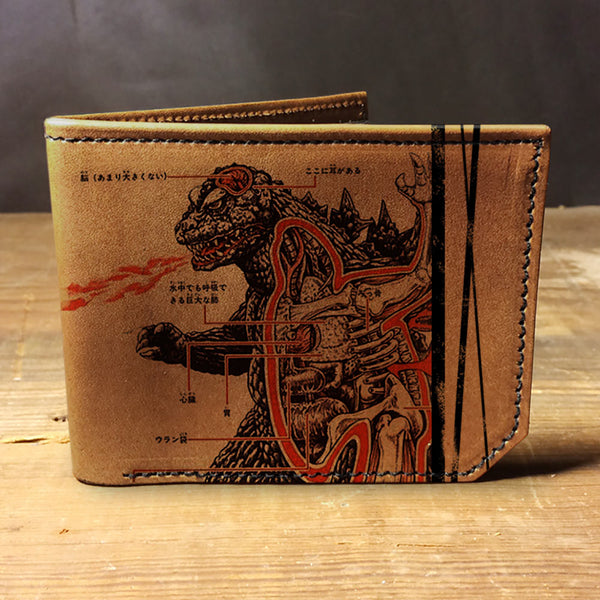 Backerton Leather Wallet - Godzilla