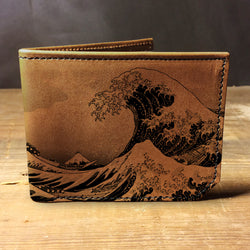 Backerton Leather Wallet - Great Wave