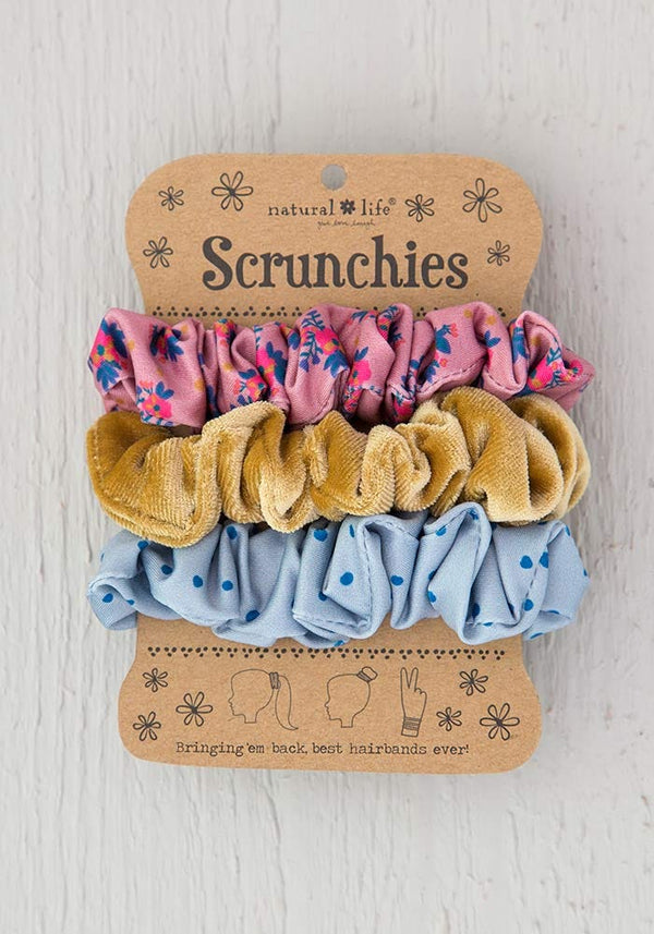 Scrunchies S/3 Pink Floral