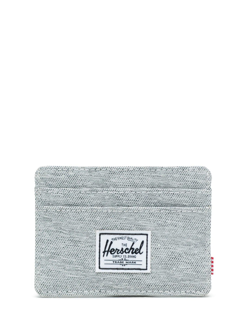 Charlie Wallet - Light Grey Crosshatch
