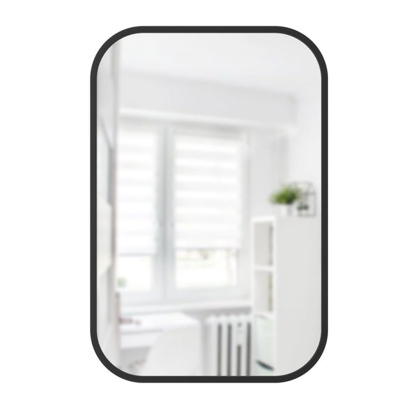 Hub Rectangle Mirror - 24x36 Black