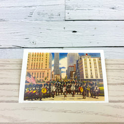 Kiltie Band at Civic Center Postcard