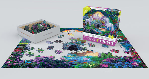 Unicorns in Fairy Land 500PC Puzzle