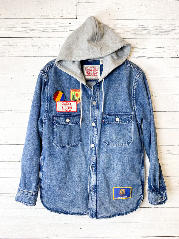 Levi's Hooded Jacket with Pockets and Vintage Patches