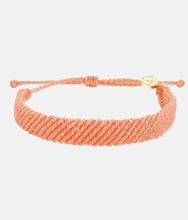 Flat Braided Bracelet - Blush
