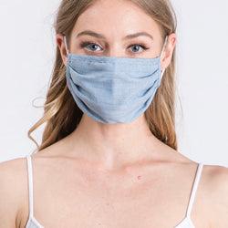Denim Woven Face Mask