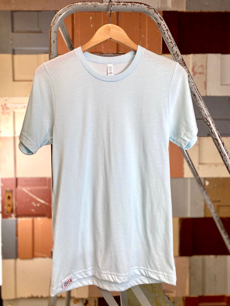 Blue Seven Backed Tee - Slim Fit