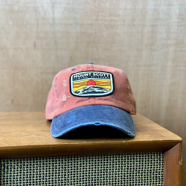 Distressed Mount Scott dad hat