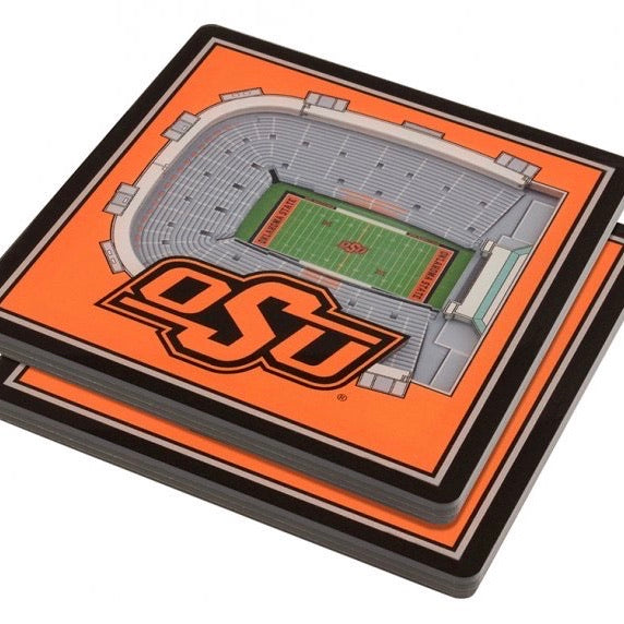 3D Stadium Coaster Set - OSU
