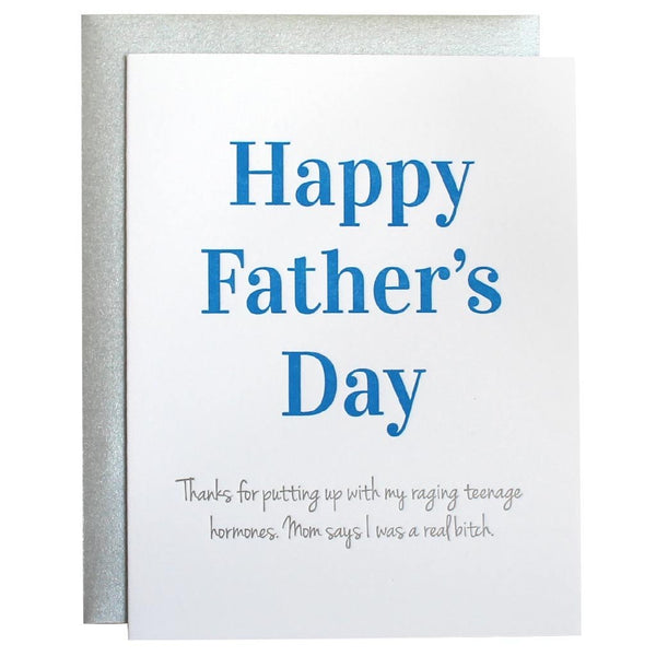 Raging Hormones Father's Day Card