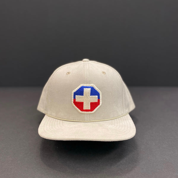 Red White & Blue Patch Corduroy Hat
