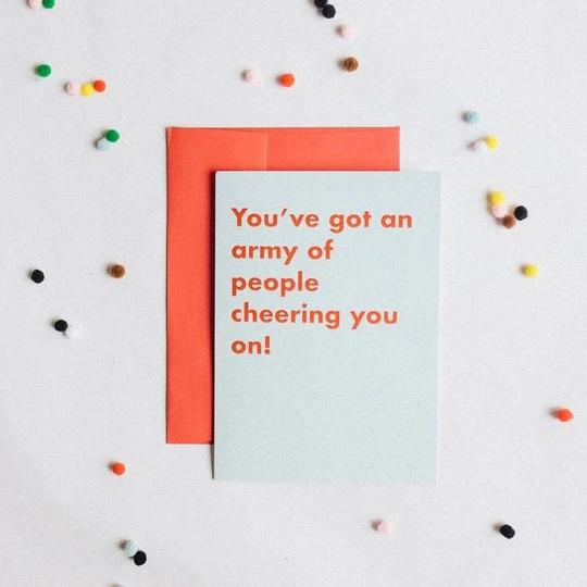 Army of Support Greeting Card