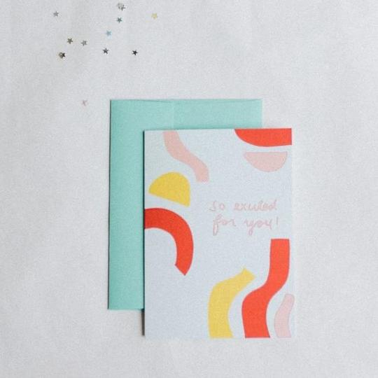 So Excited For You Greeting Card