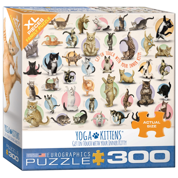 Yoga Kittens 300PC Puzzle