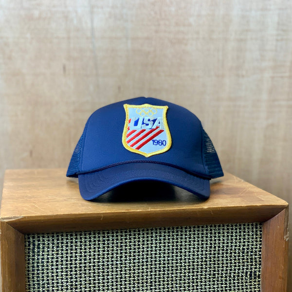 Vintage 1980 Olympic Patch hat