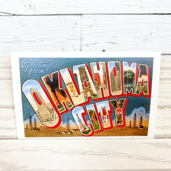 Greetings From OKC Postcard