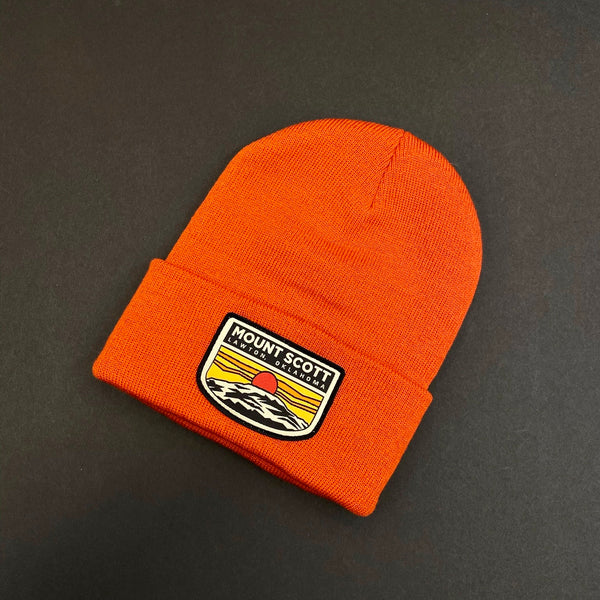Orange Mount Scott Beanie
