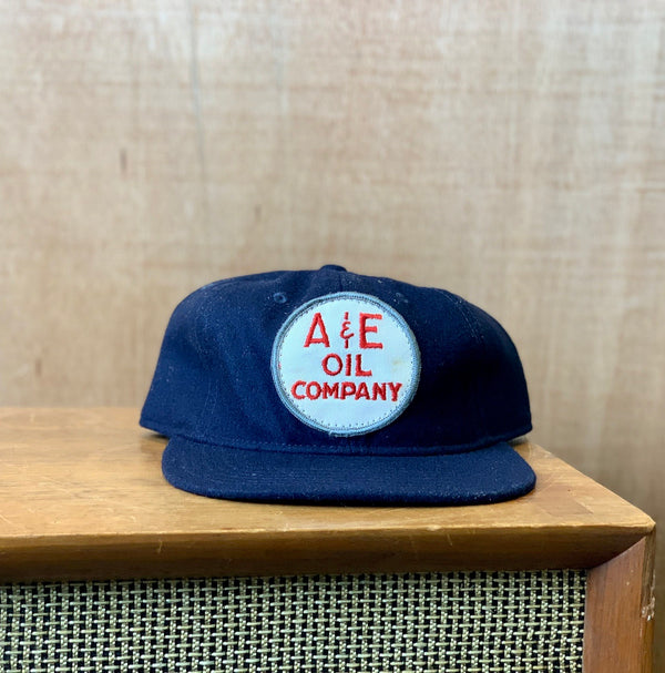 Vintage A&E Oil Company patch hat