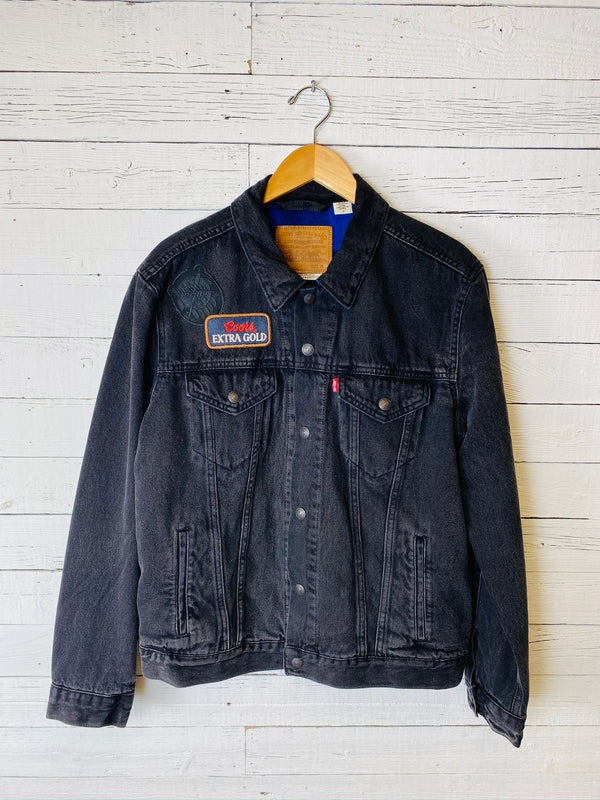 Men's Black Lined Levis Jacket