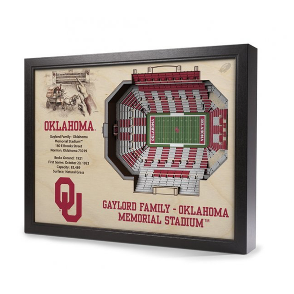 3D Stadium Wall Art - OU