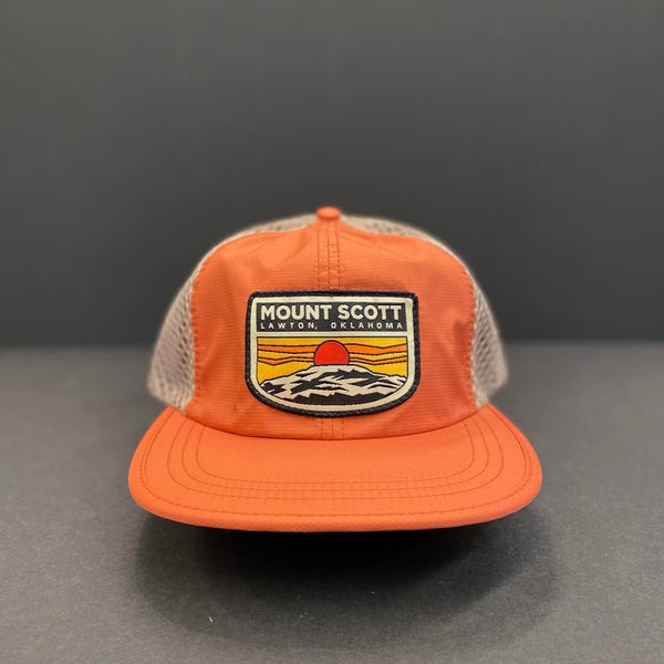 Orange Mount Scott Mesh Hat