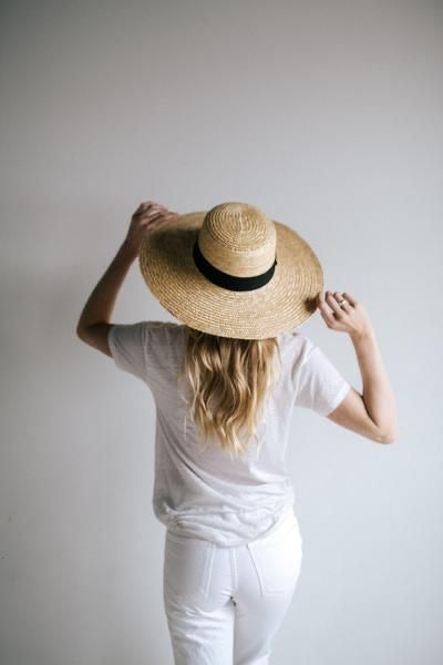 Faye Medium Natural Straw Boater Hat