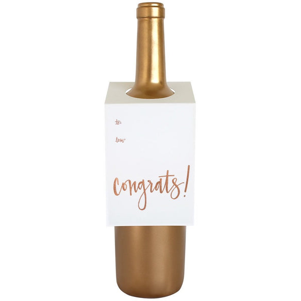 Congrats Rose Gold Wine/Spirit Tag
