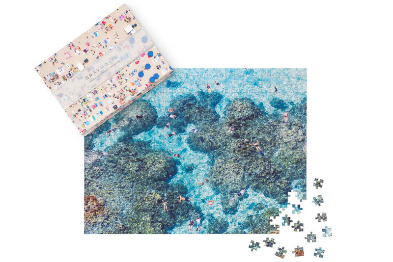 Gray Malin Double Sided Beach Puzzle 500 Pcs