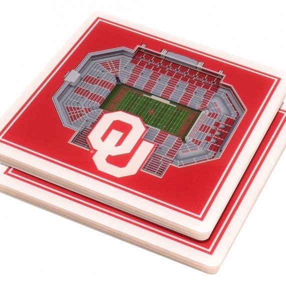 3D Stadium Coaster Set - OU