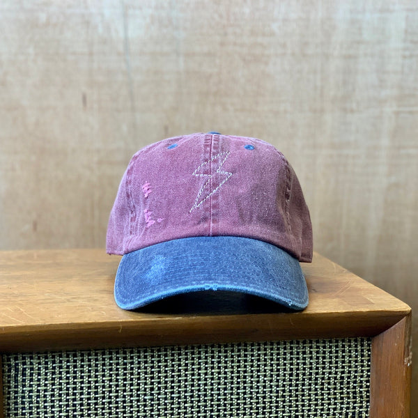 Distressed Lightning bolt dad hat