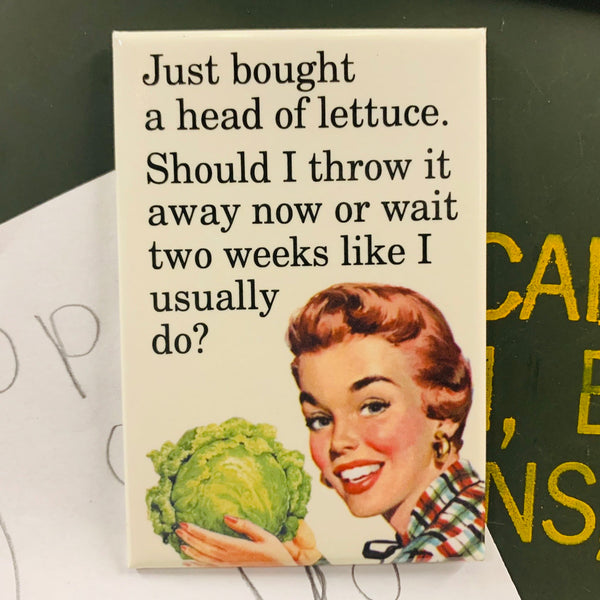 Head of Lettuce Magnet