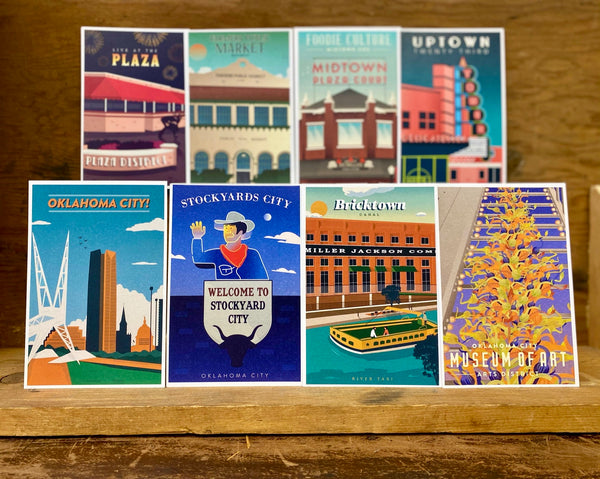 OKC District Series Postcards