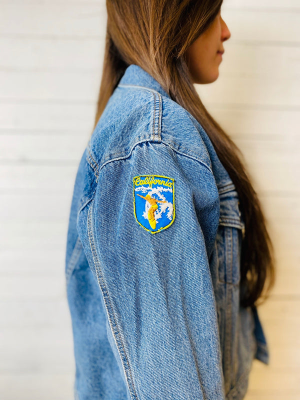 Women's Levi's Boyfriend Trucker: Vintage Patches