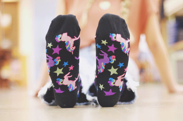 Women's Crew Unicorn - Black