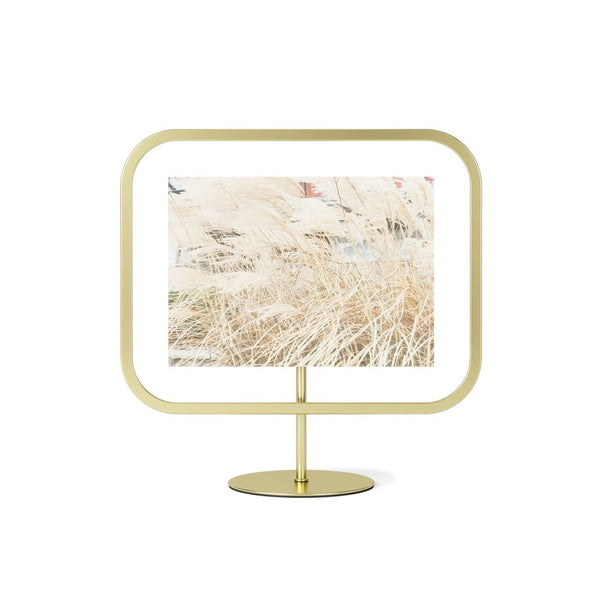 Infinity Square Photo Frame - 5x7 Matte Brass