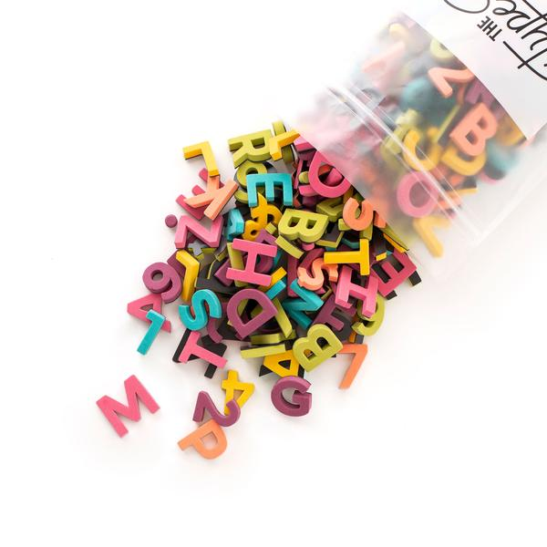 "Soft Magnetic Letters 1"" Sans Serif - Rainbow Pop"