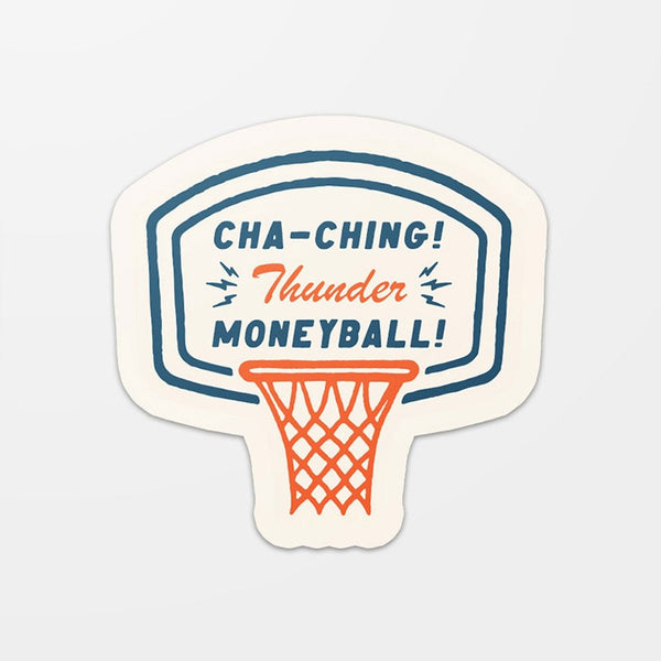 Thunder Moneyball Sticker Blue/Orange