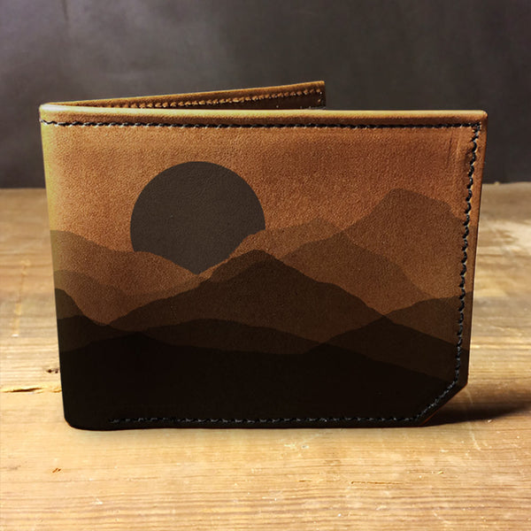 Backerton Leather Wallet - Mountain Silhouette