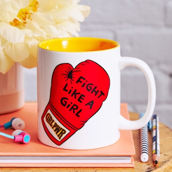 Ceramic Mug: Fight Like a Girl