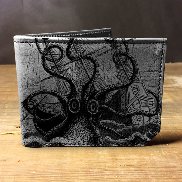 Backerton Leather Wallet - Octopus Attacks