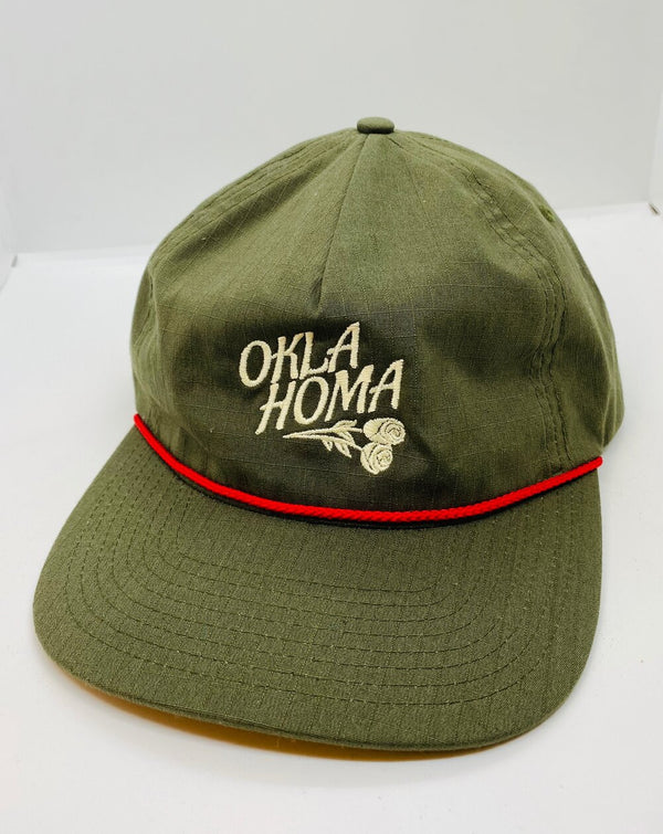 Oklahoma Rose Hat - Moss