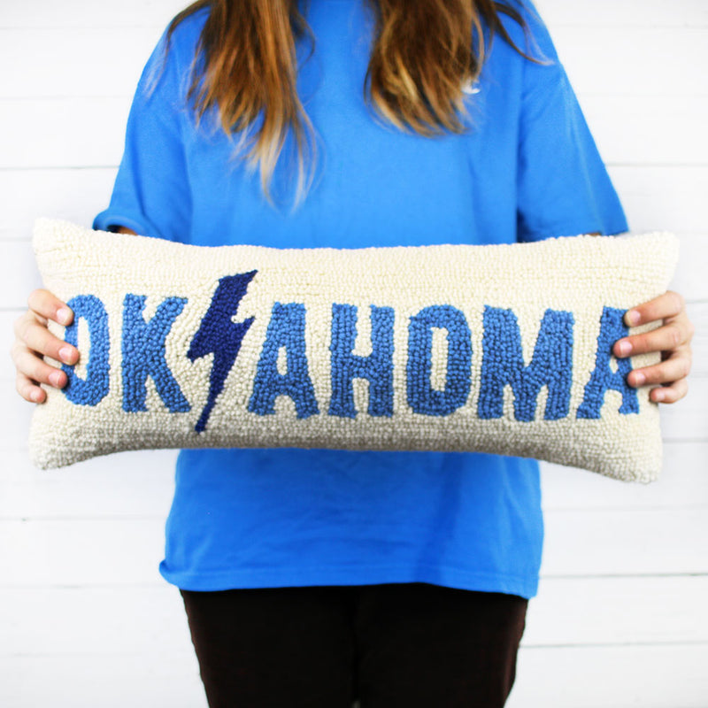 Oklahoma Lightning Hook Pillow