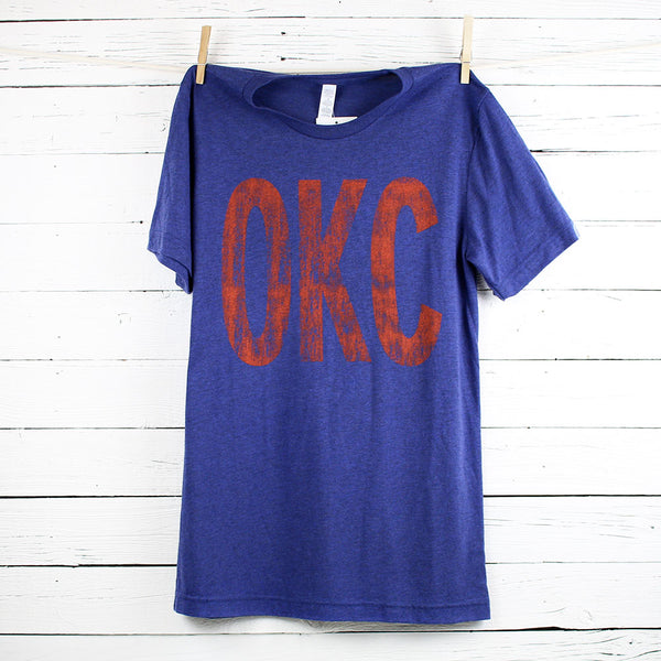 OKC Distressed Letters Tee