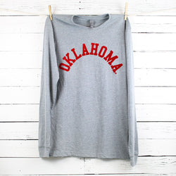 Oklahoma Flocked L/S Sueded Tee