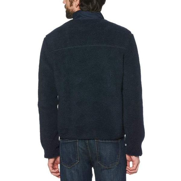 Full Zip Faux Sherpa Jacket