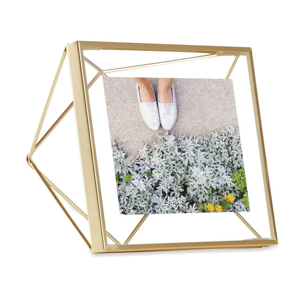 Prisma Photo Frame - 4x4 Matte Brass