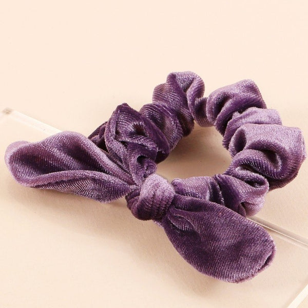 Solid Velvet Hair Scrunchie