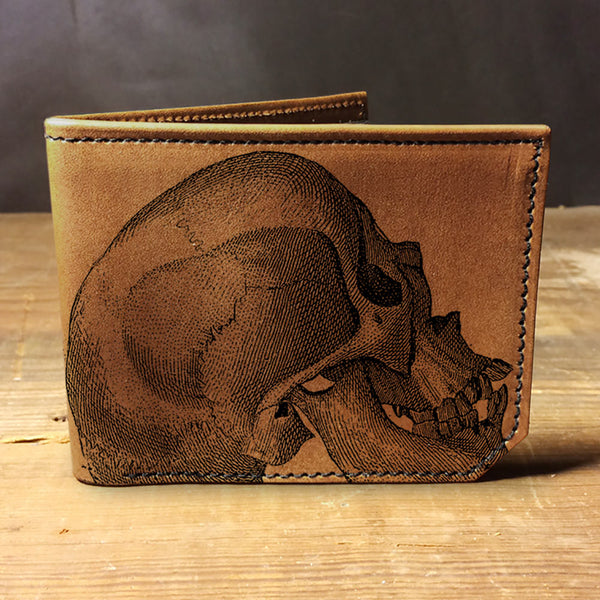 Backerton Leather Wallet - Skull